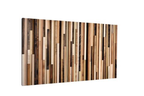 Wood Wall Art - Reclaimed Wood Art Sculpture - Wood Sculpture with Natural Colors - Modern Textures