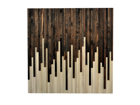 Wood Wall Art - Reclaimed Wood Art Sculpture - Drip Design - Modern Textures