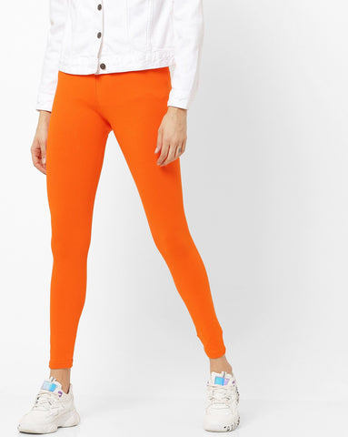 Adorna Active Leggings - Kesari Orange