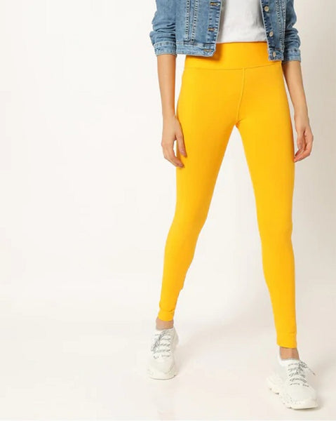 Adorna Active Leggings - Golden Yellow