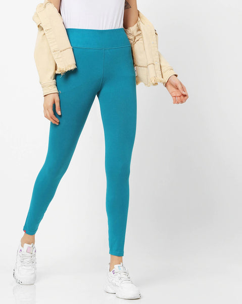 Adorna Active Leggings - Teal Green