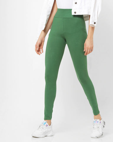 Adorna Active Leggings - Ever Green