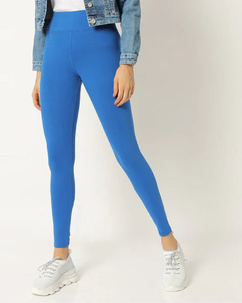 Adorna Active Leggings - Royal Blue
