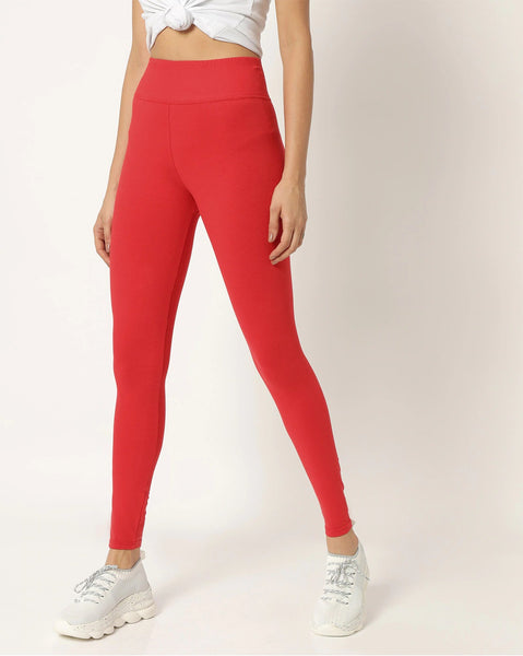 Adorna Active Leggings - Bloody Red
