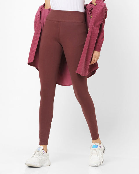 Adorna Active Leggings - Coffee Brown