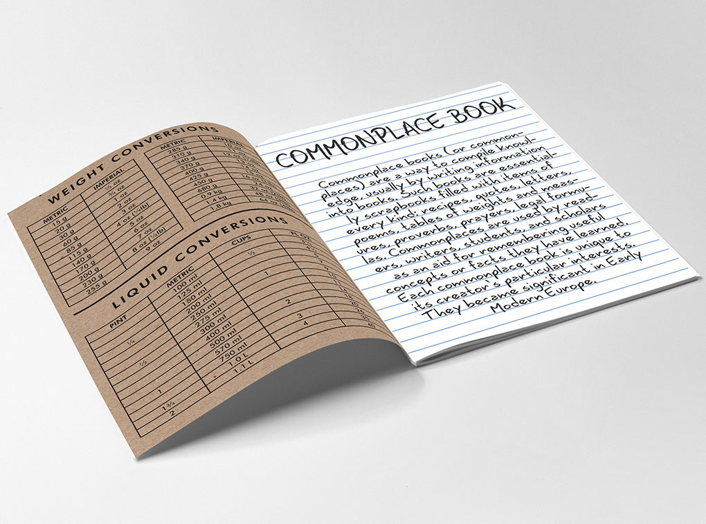 commonplace book handbook notebook