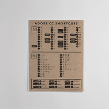 Adobe CC Shortcuts Notebook