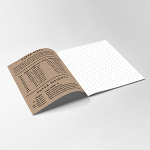 Notebook Paper Size Guide Graphic Design