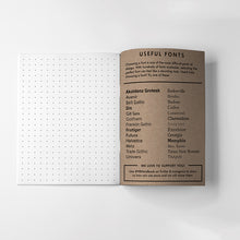 Useful Fonts Graphic Design Notebook