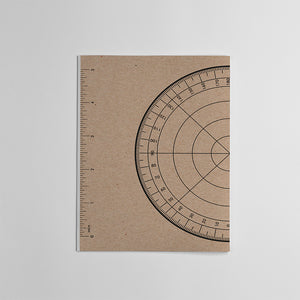 Protractor Ruler Notebook HB Handbook
