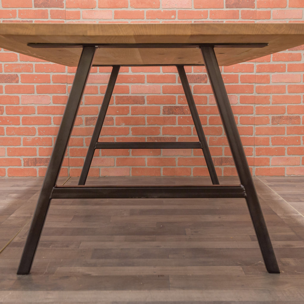 Reclaimed Oak Table - Steel A-Frame Base