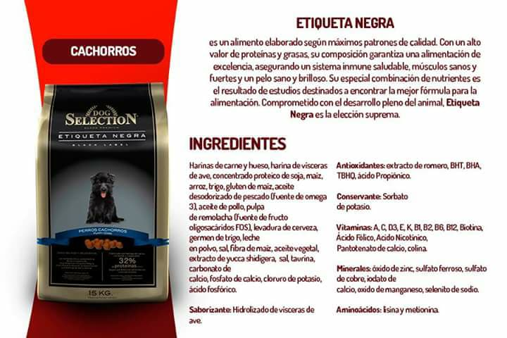 DOG SELECTION - BLACK LABEL - SUPER PREMIUM CACHORRO - 32% DE PROTEINAS - PROMOCIÓN  15 + 2 KG.  (SOLO CHICUREO, COLINA Y LAMPA)