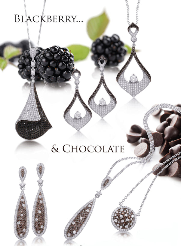 Blackberry and Chocolate Chips Sterling Silver Jewelry Collection