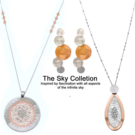 The Sky Collection-Sterling Silver Necklaces and Sterling Silver Earrings