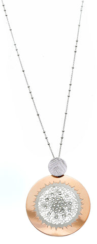 """The Daytime Sky Necklace"" Silver Necklace-Part of the Sky Collection"