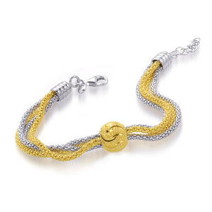Simply Beautiful Silver and Gold Woven Bracelet