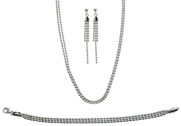 Two Strand Necklace (IN044)...The Dazzle Collection in Sterling Silver