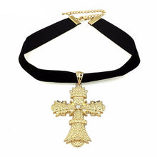 Oversized Cross Choker