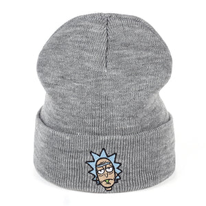 Rick and Morty Winter Hats Rick Beanies Elastic Brand Embroidery Ski Gorros  Cap Warm Unisex Knitted 540dda063324