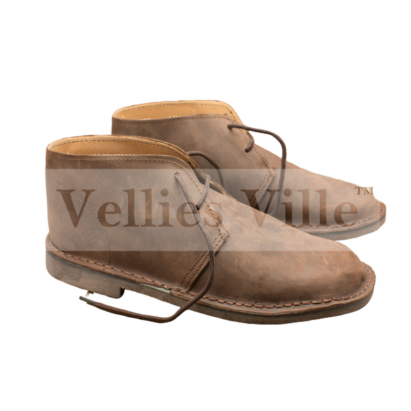 Farmer's Vellies (Dark Brown Leather) - Vellies Ville