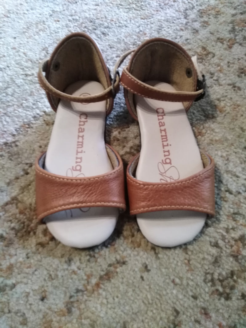 Baby Open toe tan (Size 7)