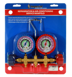 REFRIGERATION & AIR-CONDITIONING SERVICE 2-VALVE MANIFOLD (398-CC)