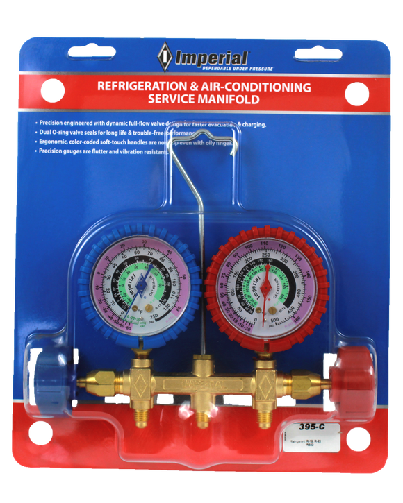 REFRIGERATION & AIR-CONDITIONING SERVICE 2-VALVE MANIFOLD (395-CC)