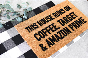 Accent Mat | Black and White Buffalo Checked Accent Rug | Doormats Direct