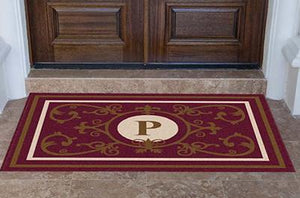 Estate | Edinburgh Estate Doormat Monogrammed Burgundy | Doormats Direct