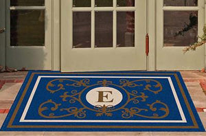 Estate | Edinburgh Estate Doormat Monogrammed Navy | Doormats Direct