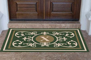 Estate | Edinburgh Estate Doormat Monogrammed Hunter Green | Doormats Direct