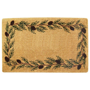 Luxury Coir | Luxury Coir Evergreen Border Doormat | Doormats Direct