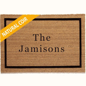 Personalized Doormats | Single Border | Doormats Direct