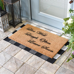 Funny Doormats | Live Well Laugh Often Leave Soon | Doormats Direct