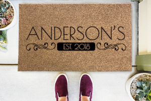 Personalized Doormats | Homestead Full Name + Established Date | Doormats Direct