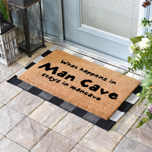 Funny Doormats | What Happens In The Man Cave, Stays In The Man Cave | Doormats Direct