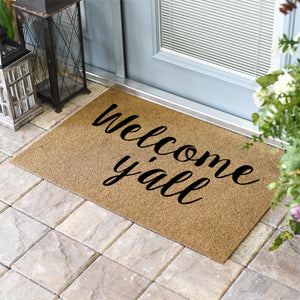 Funny Doormats | Welcome, Y'all Coir Doormat | Doormats Direct