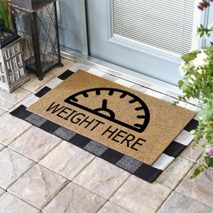 Funny Doormats | Weight Here | Doormats Direct