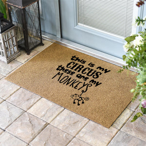 Funny Doormats | Hanging Circus Monkey | Doormats Direct