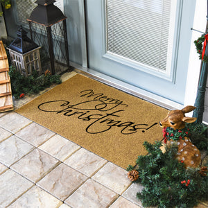 Christmas Doormats | Merry Christmas Script | Doormats Direct