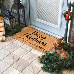 Christmas Doormats | Merry Christmas Ya Filthy Animal | Doormats Direct