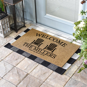 Personalized Doormats | Beach Chairs Welcome Doormat | Doormats Direct