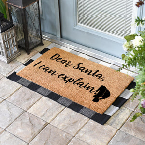 Christmas Doormats | Dear Santa, I Can Explain | Doormats Direct