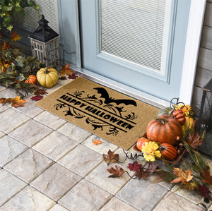 Halloween Doormats | Happy Halloween Bat | Doormats Direct