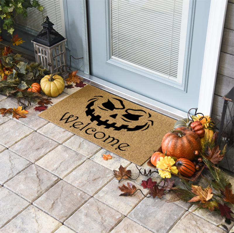 Halloween Doormats | Evil Pumpkin Welcome | Doormats Direct