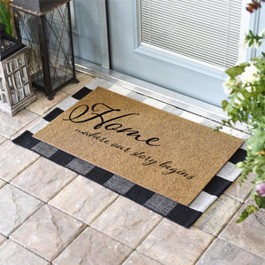 Funny Doormats | Home Is Where Our Story Begins | Doormats Direct