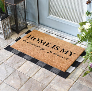 Funny Doormats | Home Is My Happy Place | Doormats Direct