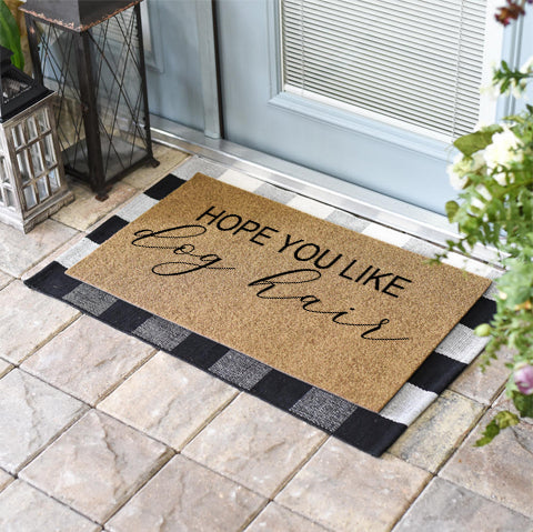 Funny Doormats | Hope You Like Dog Hair | Doormats Direct