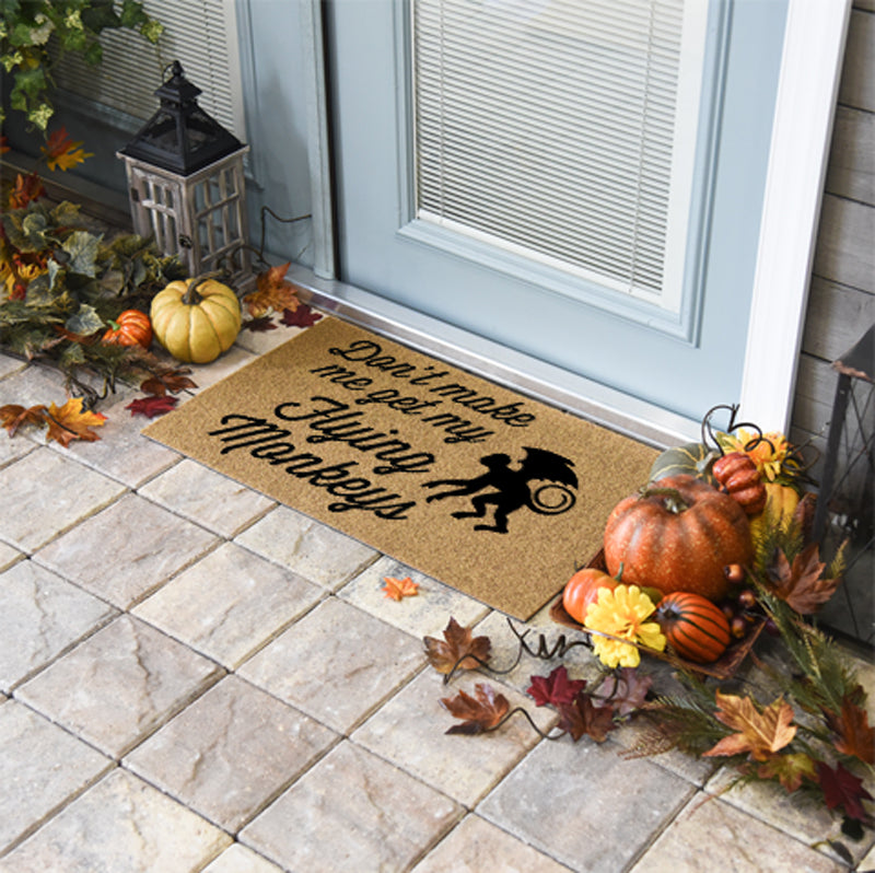 Halloween Doormats | Don't Make Me Get My Flying Monkeys | Doormats Direct