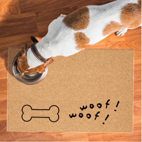 Pet Mats | Dog Bone Woof Woof Non-Personalized | Doormats Direct